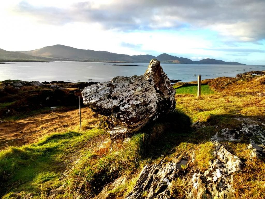 According to legend this rock is the remains of the 'Hag of Beara', staring out to sea awaiting her husband, Manannán mac Lir, God of the Sea, to return to her.